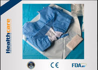 Biodegradable Disposable Surgical Gowns Medical Apparel With 4 Waist Belts Blue Color